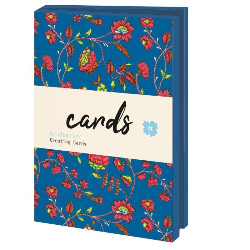 Lmc349,Notecards 10 stuks 13x18 bloemenpapier smb