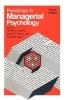 Harold J. Leavitt,   Louis R. Pondy,   David M. Boje, Readings in Managerial Psychology