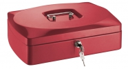 , geldkistje Alco 330x235x90mm staal rood