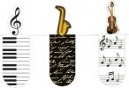 Mos-31122 , Magnetische boekenlegger set 3 stuks  muziek
