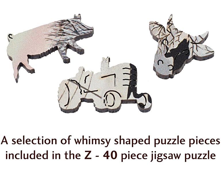 ,Puzzel friesians in winter - wentworth houten puzzel-  40 stuks