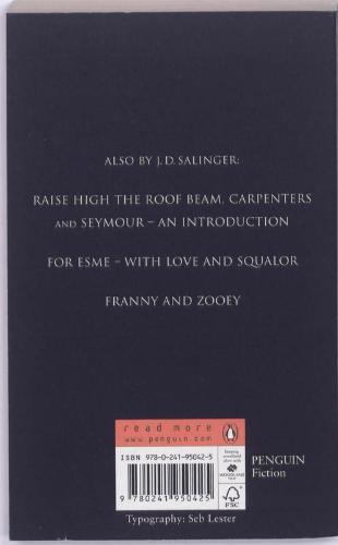 J.D.  Salinger,The Catcher In The Rye