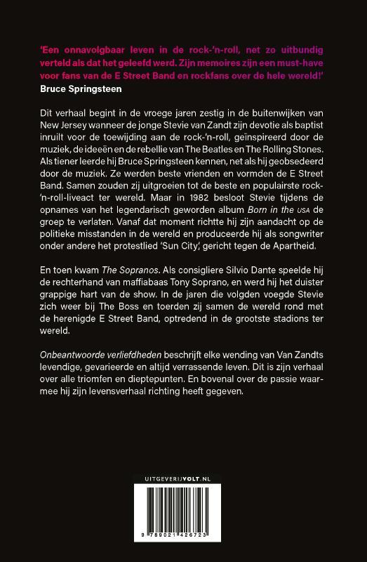 Steven van Zandt,Onbeantwoorde verliefdheden