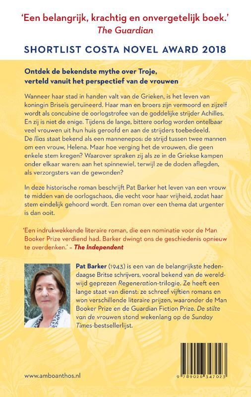 Pat Barker,De stilte van de vrouwen