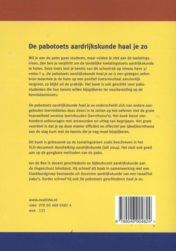 Jan de Bas,De pabotoets aardrijkskunde haal je zo