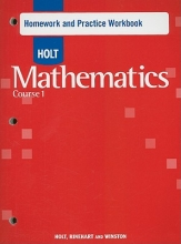 Holt Mathematics Course 1 Homework and Practice