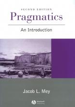 Jacob L. Mey Pragmatics