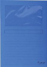 , Insteekmap L-model Exacompta + venster karton donkerblauw