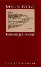 Fritsch, Gerhard Gesammelte Gedichte