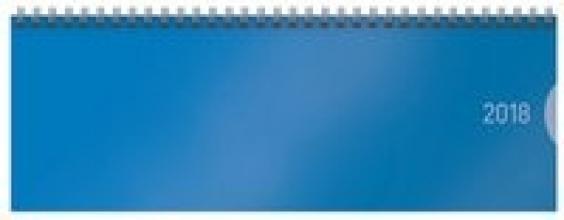 Tischquerkalender Classic Colourlux blau 2018