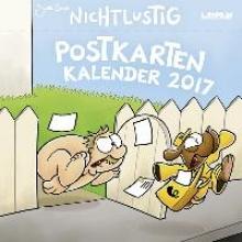Sauer, Joscha Nichtlustig Postkartenkalender 2017