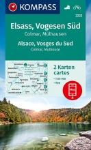 KOMPASS-Karten GmbH , KOMPASS Wanderkarte Elsass, Vogesen Süd, Alsace, Vosges du Sud, Colmar, Mülhausen, Mulhouse 1:50 000