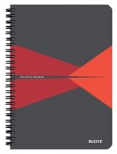 , Notitieboek Leitz Office A5 lijn karton rood