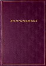 Reservierungsbuch A4 immerwhrend, weinrot