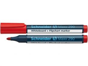 , Viltstift Schneider 290 whiteboard rond rood 2-3mm