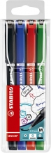 , Fineliner STABILO Sensor 187 etui á 4 kleuren