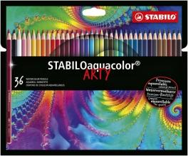 , Kleurpotloden STABILO aquacolor 1636-1-20 etui à 36 kleuren