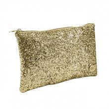 , Etui qc sparkle cosmetic 21cm glitter goud