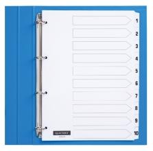 , Tabbladen Quantore 4-gaats 1-10 genummerd wit karton