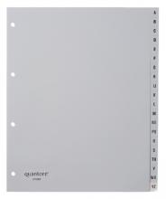 , Tabbladen Quantore A4 4-gaats 20-delig met alfabet breed PP