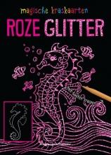 , Magische kraskaarten: roze glitter