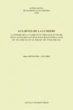 Aline  Smeesters Supplementa Humanistica Lovaniensia Aux rives de la lumiere