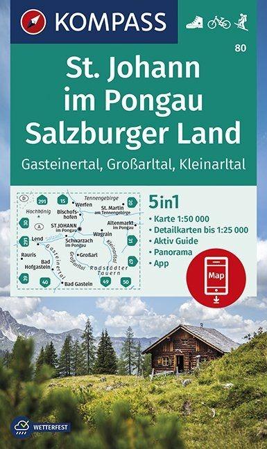 ,St. Johann im Pongau, Salzburger Land 1:50 000