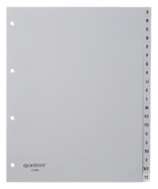 ,Tabbladen Quantore A4 4-gaats 20-delig met alfabet breed PP