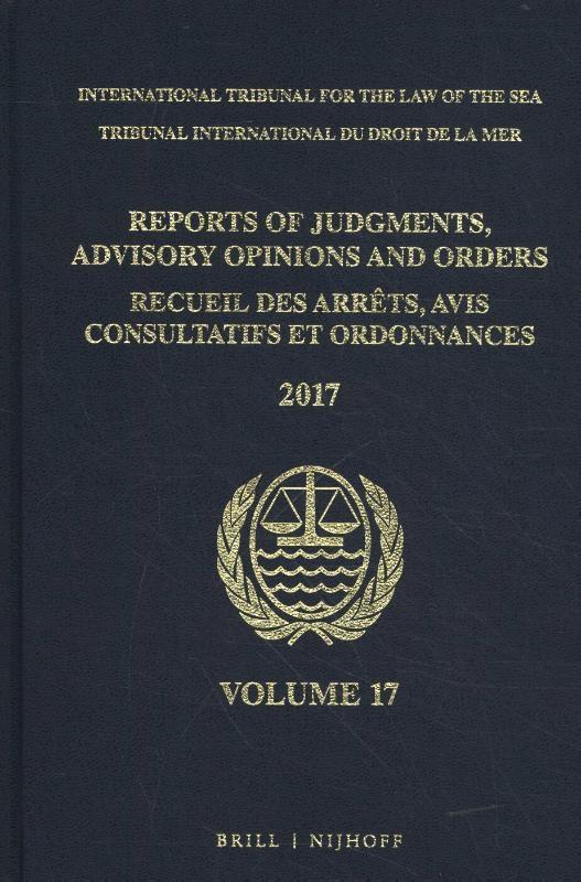 ,Reports of Judgments, Advisory Opinions and OrdersReceuil des arrets, avis consultatifs et ordonnances, Volume 17 (2017)