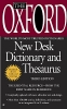 Oxford University Press,The Oxford New Desk Dictionary and Thesaurus