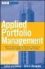 Shenoy, Catherine,Applied Portfolio Management