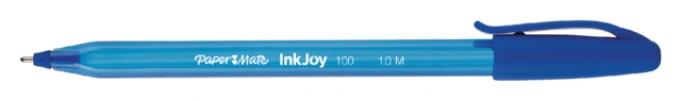 ,Balpen Paper Mate Inkjoy 100 blauw medium 80+20 gratis