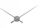 ,Wandklok NeXtime dia. 70 cm, zilver, `Hands`