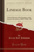 Johnston, Sarah Hall Lineage Book, Vol. 31