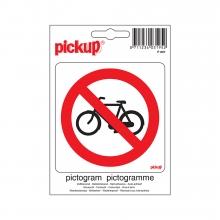 P807 , Pictogram  10 x 10 cm fiets verbod