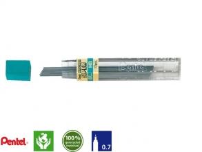 , Potloodstift Pentel 0.7mm zwart per koker HB