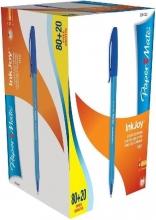 , Balpen Paper Mate Inkjoy 100 blauw medium 80+20 gratis