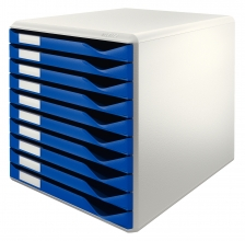 , Ladenblok Leitz 5281 10 laden blauw