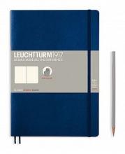Lt349299 , Leuchtturm notitieboek composition softcover 178x254 mm blanco marineblauw