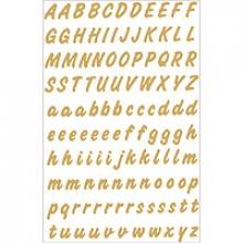 , Etiket Herma 4152 8mm letters A-Z goud op transparant 238st.