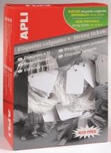 , Label Apli karton nr392 36x53mm wit