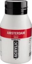 Talens amsterdam acrylverf pot 1000 ml. zinkwit 104