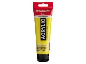 , Talens amsterdam acrylverf tube 120 ml transparantgeel middel 272