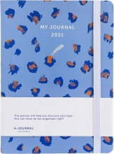 , Bureauagenda 2021 my journal lavendel leopard