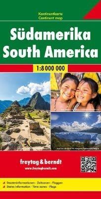 ,Südamerika, Kontinentkarte 1:8 000 000