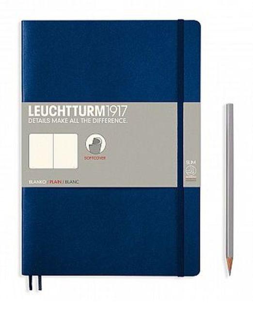 Lt349299,Leuchtturm notitieboek composition softcover 178x254 mm blanco marineblauw