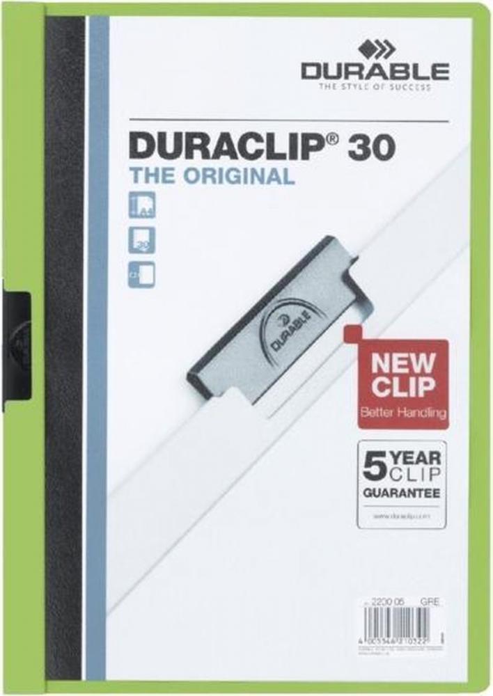 ,Klemmap Durable 2200 A4 3mm groen