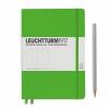 <b>Lt357491</b>,Leuchtturm notitieboek medium 145x210 blanco lichtgroen