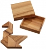 <b>Phi-6212</b>,Tangram in samena hout  7 puzzelstukken