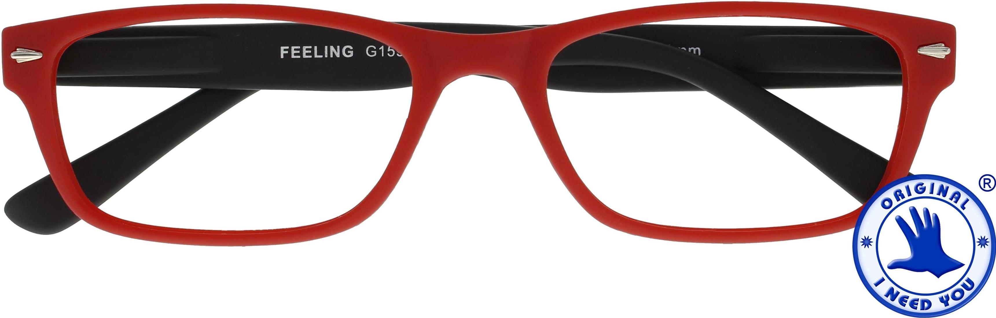 ,Leesbril +2.00 Feeling rood-zwart